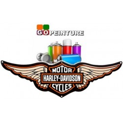 Peinture Harley Davidson en spray 400ml + vernis