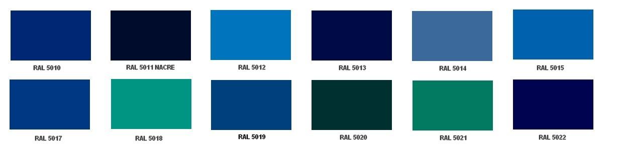 Ral Bleu Canard 5018
