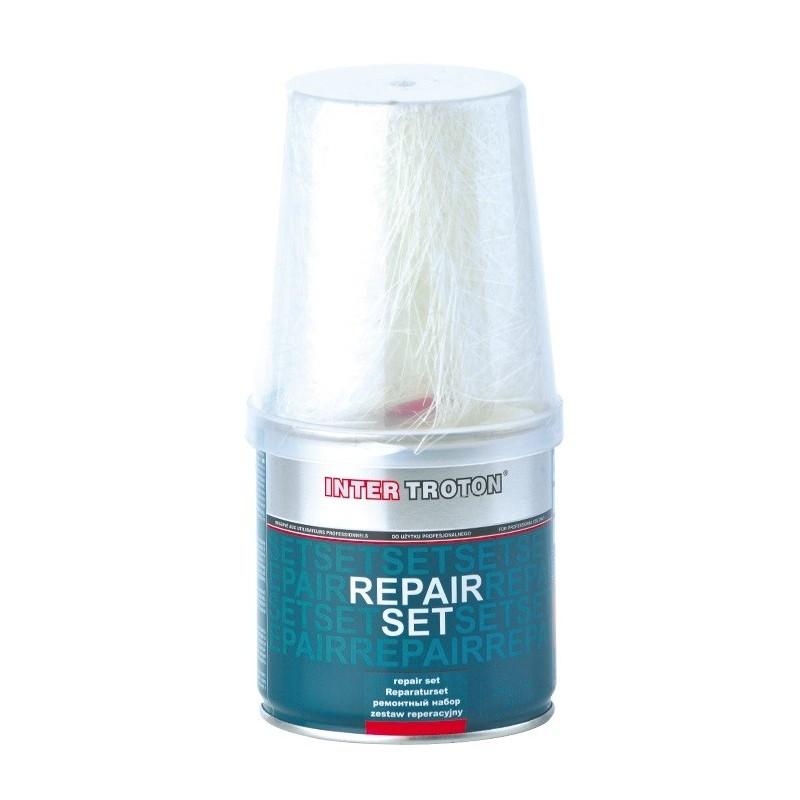 Résine polyester et fibre de verre en petit pot de 250 grammes