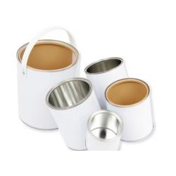 Boîtes cylindriques en fer blanc